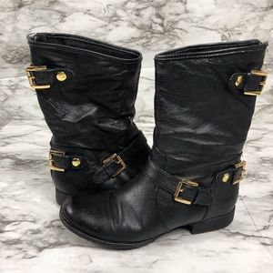 Steve Madden Black Mid-Calf Boots Size 7M